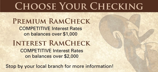 RAM Checking Accounts